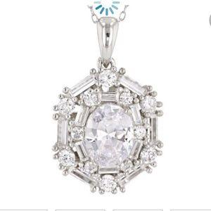 Jewelry - 🔹 SALE🔹FIRM .925 SS Pendant CZ